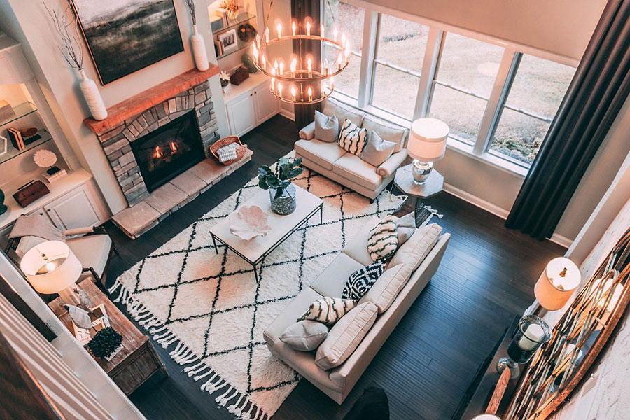 Iluminación, muebles y decoración